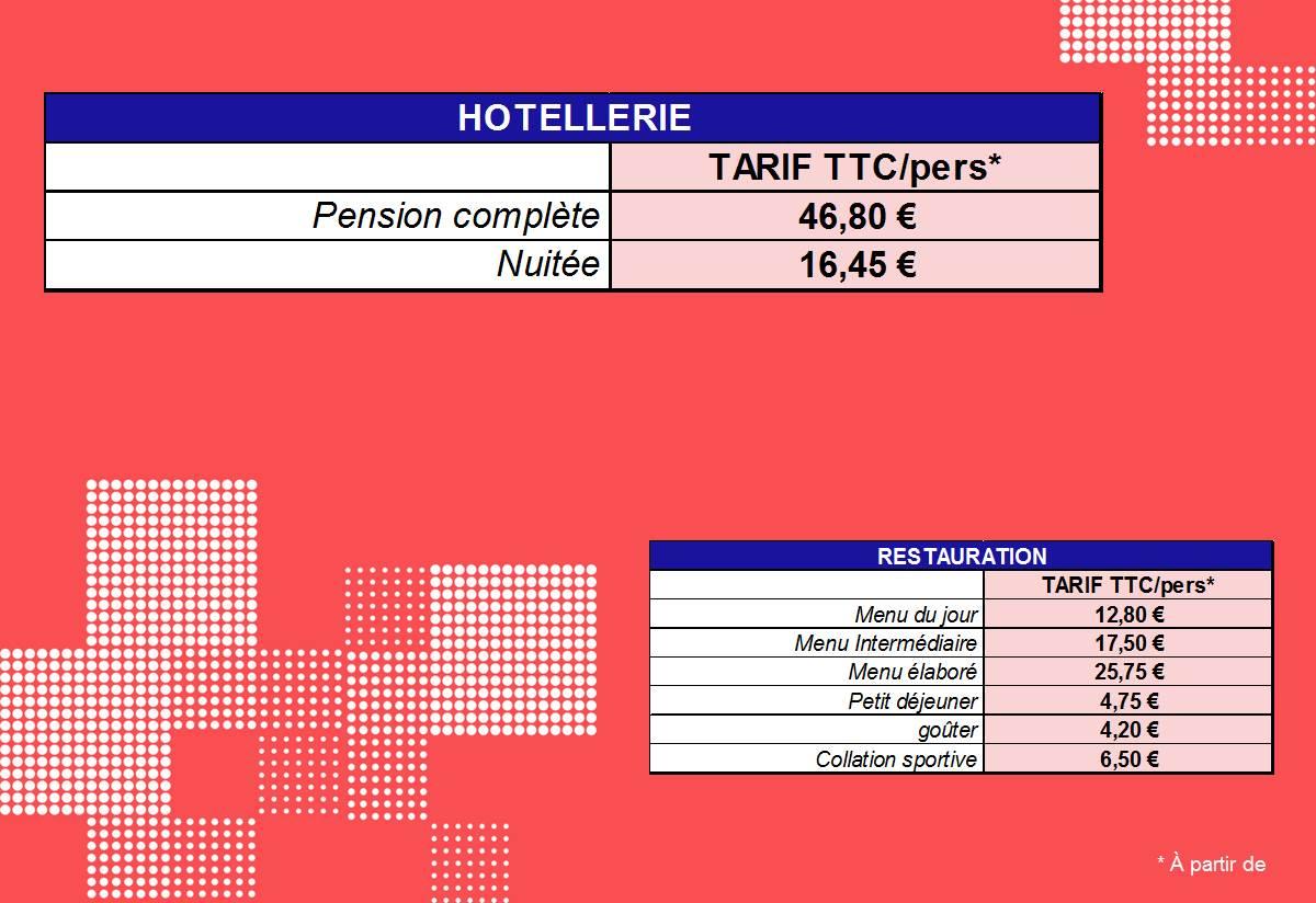 tarifs hotel restaurant Port Jérome sur seine Gravenchon Normandie