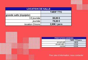 tarifs location de salle Gravenchon Normandie Port Jérome sur seine